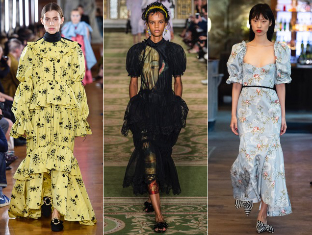 Period dresses on the recent runways.