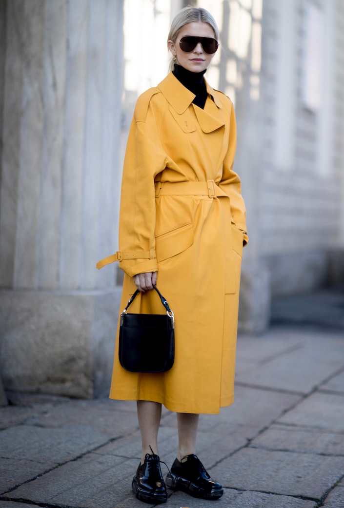 Colorful trenches are trending.