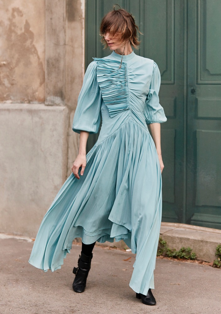 A period dress on the streets.
