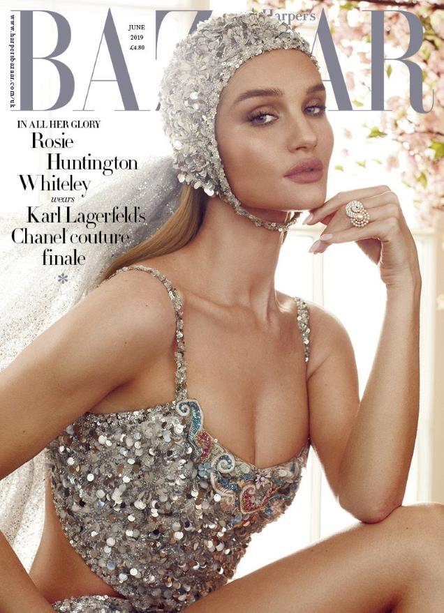 UK Harper's Bazaar June 2019 : Rosie Huntington-Whiteley by Alexi Lubomirski