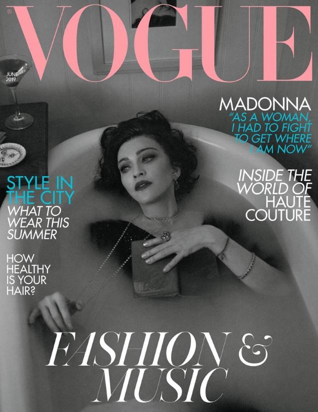 UK Vogue June 2019 : Madonna by Mert Alas & Marcus Piggott