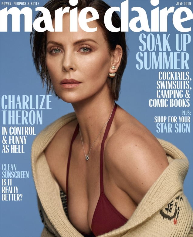 US Marie Claire June 2019 : Charlize Theron by Thomas Whiteside