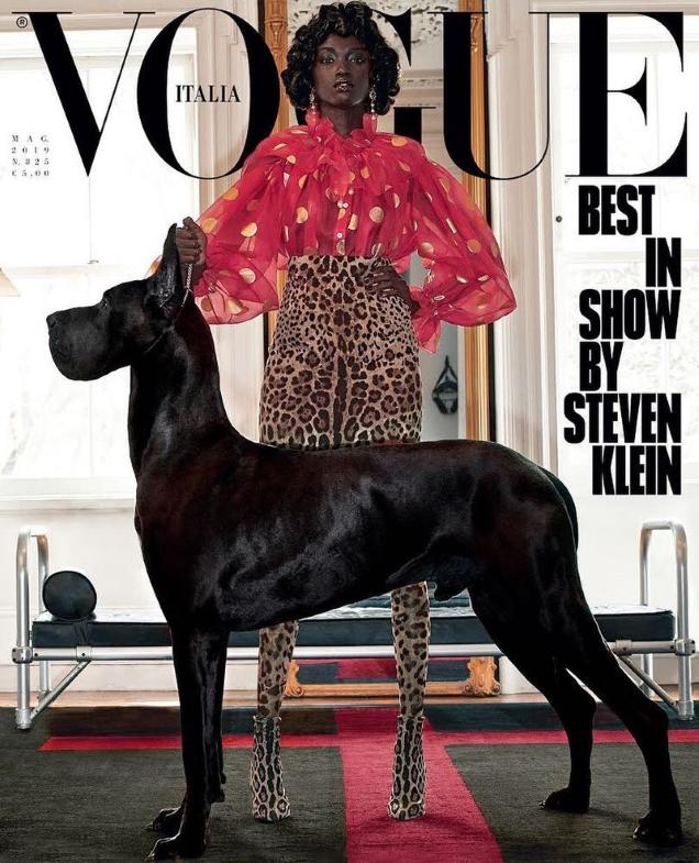 Vogue Italia May 2019 : Anok Yai by Steven Klein