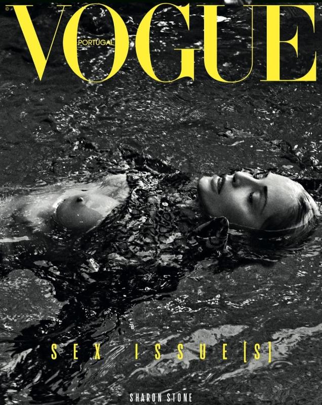 Vogue Portugal May 2019 : Sharon Stone by Branislav Simoncik