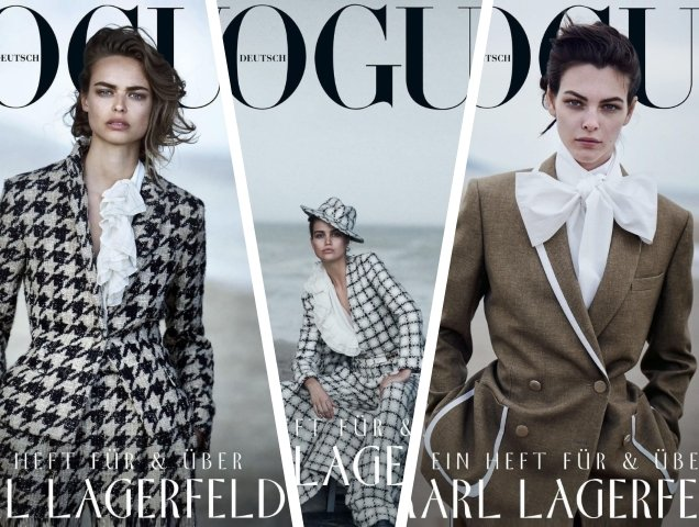 Vogue Germany July 2019 : Birgit Kos, Luna Bijl & Vittoria Ceretti by Peter Lindbergh