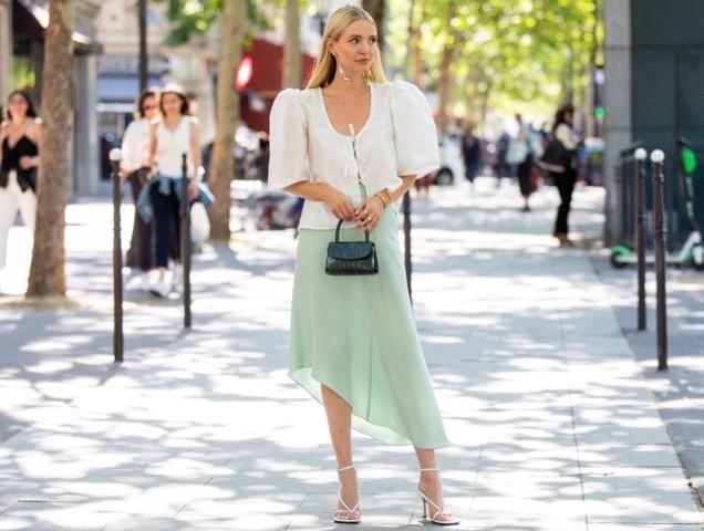 A slip skirt in summer.