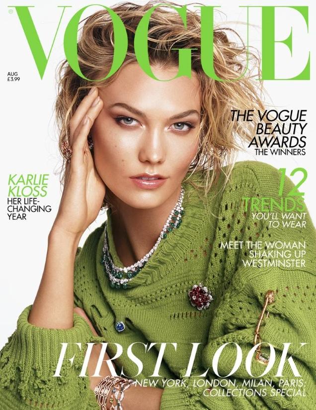 UK Vogue August 2019 : Karlie Kloss by Steven Meisel