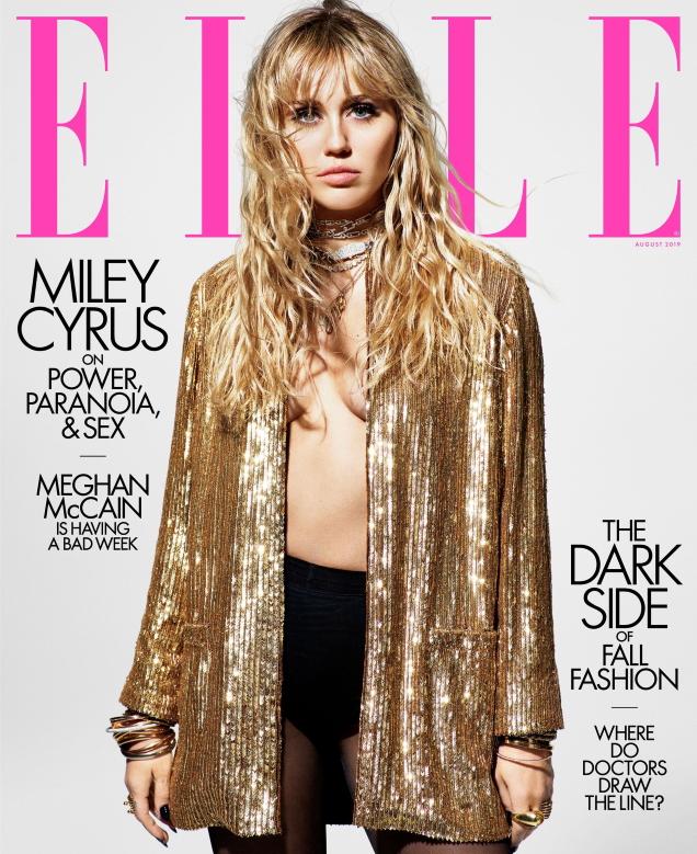 US Elle August 2019 : Miley Cyrus by Mario Sorrenti