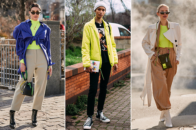 Chartreuse was a big story on and off the Fall 2019 runways.