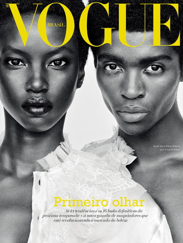 Vogue Brazil August 2019 : Anok Yai & Alton Mason by Luigi & Iango