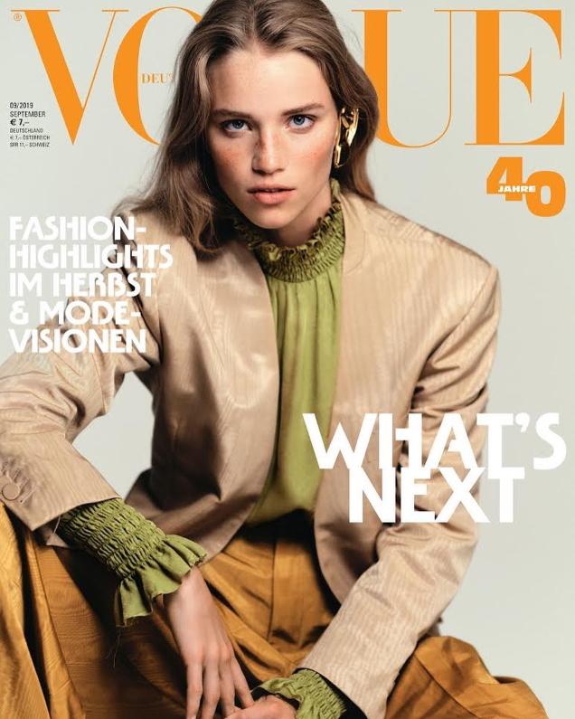 Vogue Germany September 2019 : Adut Akech & Rebecca Longendyke by Chris Colls