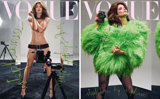 Vogue Italia August 2019 : Stephanie Seymour & Claudia Schiffer by Collier Schorr