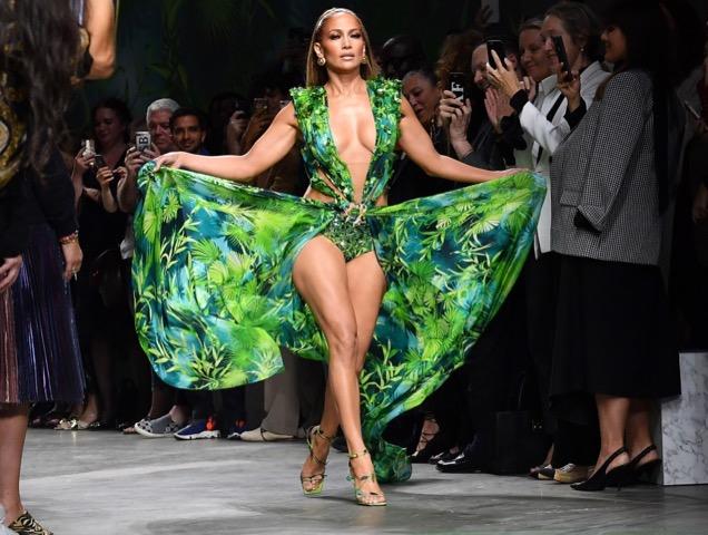 Jennifer Lopez at Versace Spring 2020