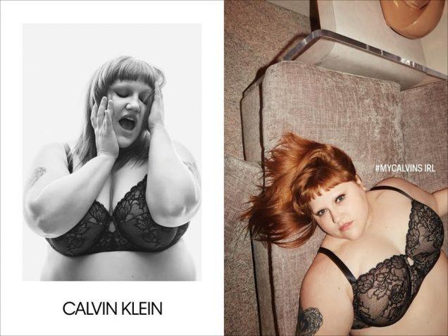 Beth Ditto for Calvin Klein Underwear Fall 2019.