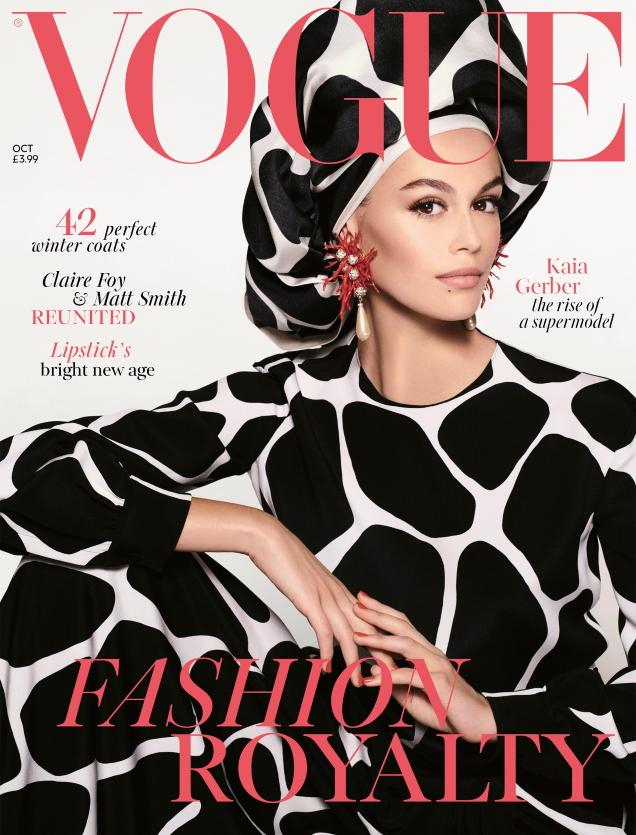 UK Vogue October 2019 : Kaia Gerber by Steven Meisel