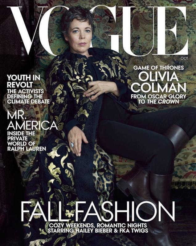 US Vogue October 2019 : Olivia Colman by Annie Leibovitz