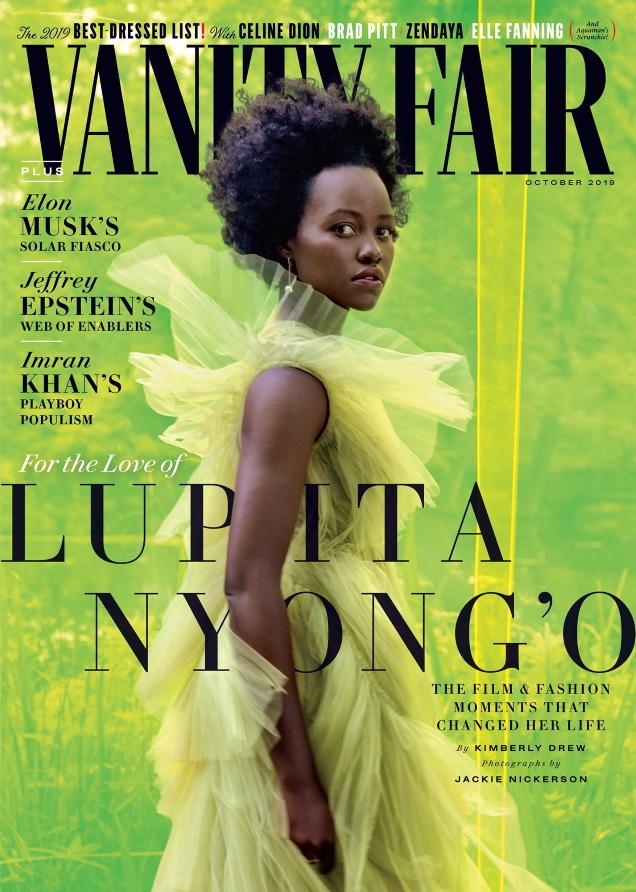 Vanity Fair October 2019 : Lupita Nyong'o by Jackie Nickerson