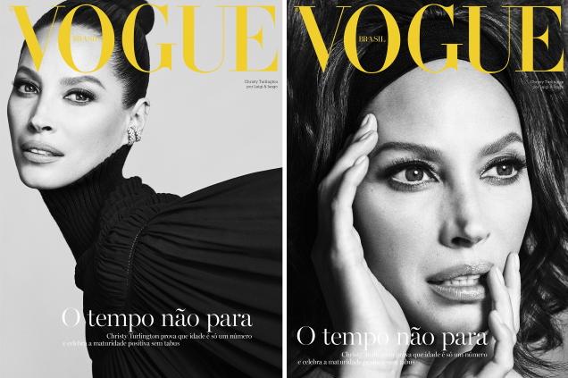 Vogue Brazil October 2019 : Christy Turlington by Luigi & Iango