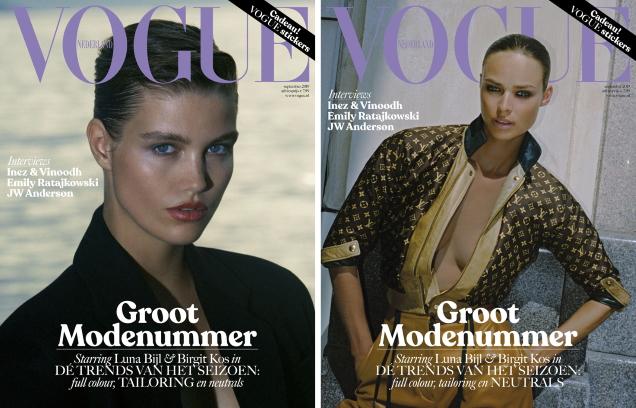Vogue Netherlands September 2019 : Luna Bijl & Birgit Kos by Carlijn Jacobs