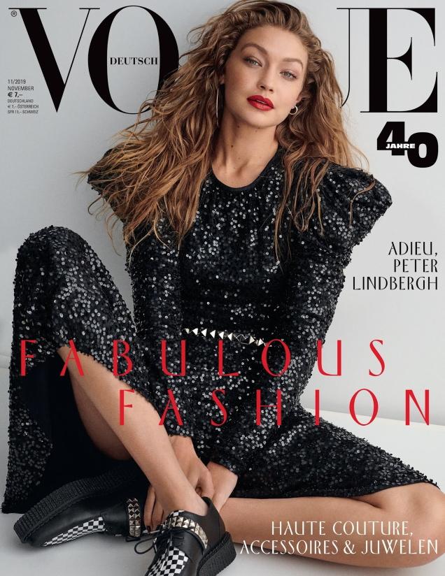 Vogue Germany November 2019 : Gigi Hadid by Giampaolo Sgura