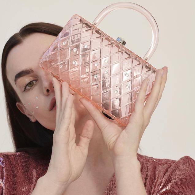 HVN Pink Rio Resin Clutch