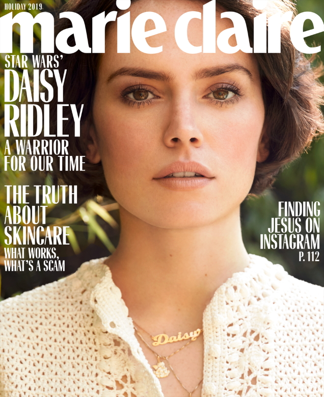 US Marie Claire Holiday 2019 : Daisy Ridley by Nicole Nodland