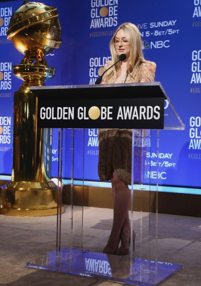 Dakota Fanning attends the 77th Annual Golden Globe Awards Nominations Announcement