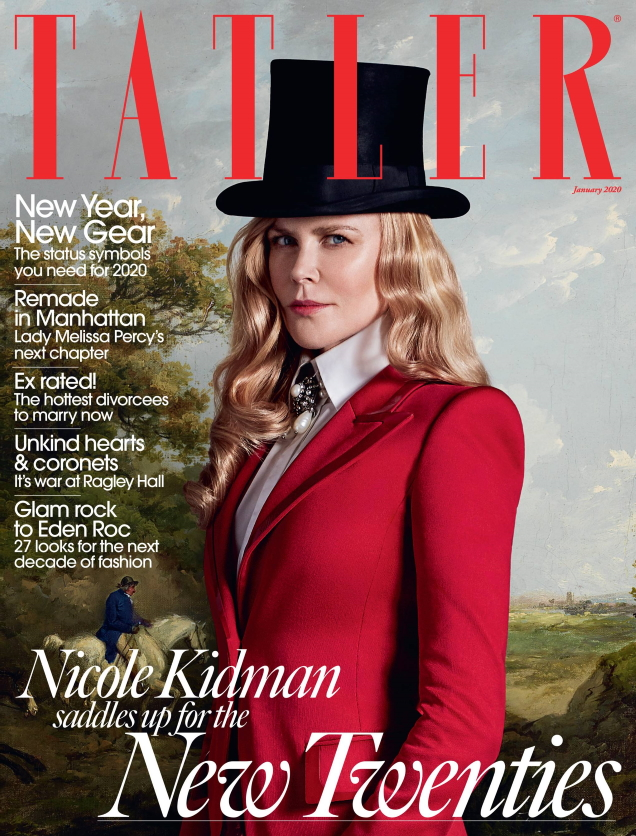 Tatler January 2020 : Nicole Kidman by Jack Waterlot