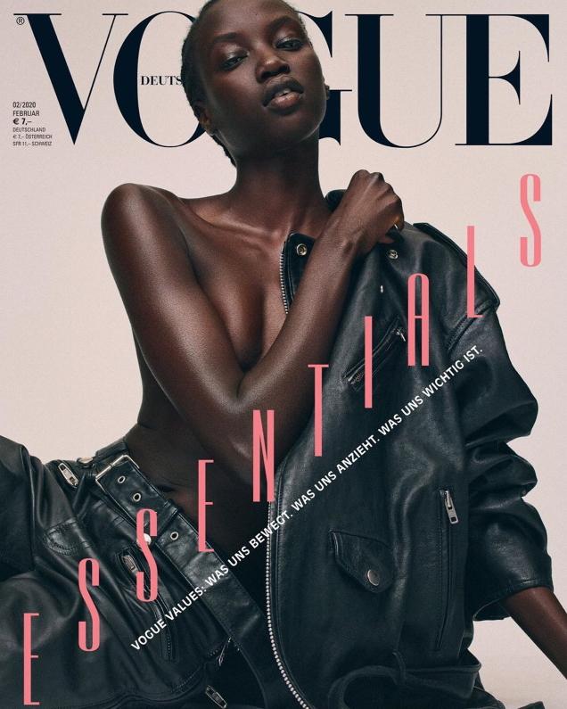 Vogue Germany February 2020 : Anok Yai, Mica Arganaraz & Othilia Simon by Gregory Harris