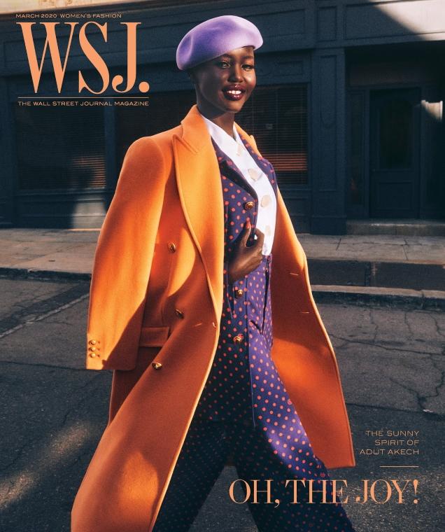 WSJ Magazine March 2020 : Adut Akech by Mikael Jansson