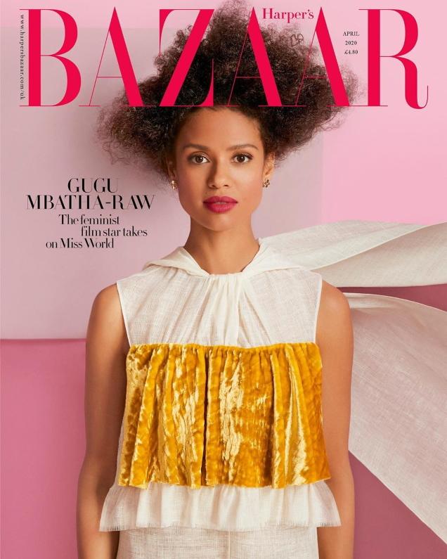 UK Harper's Bazaar April 2020 : Gugu Mbatha-Raw by Richard Phibbs