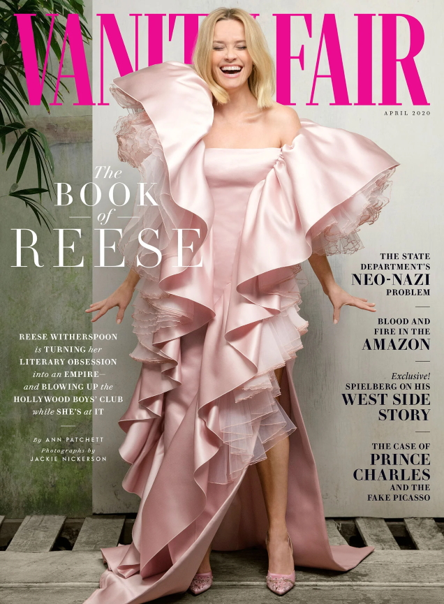 Vanity Fair April 2020 : Reese Witherspoon by Jackie Nickerson
