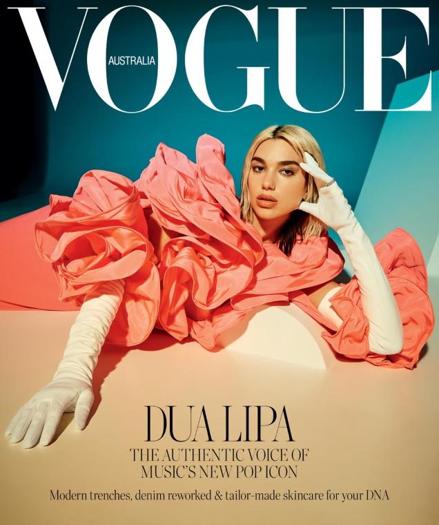 Vogue Australia April 2020 : Dua Lipa by Charlie Dennington