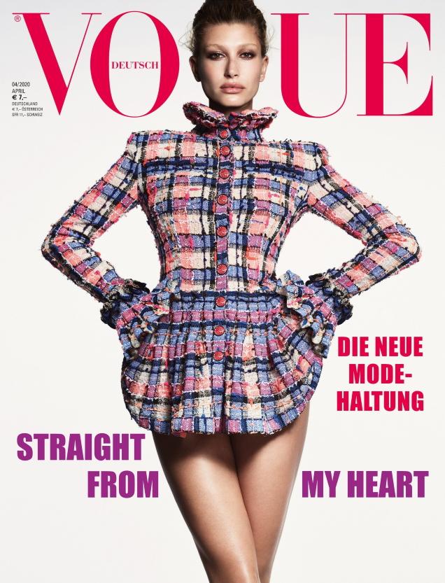 Vogue Germany April 2020 : Hailey Bieber by Luigi & Iango