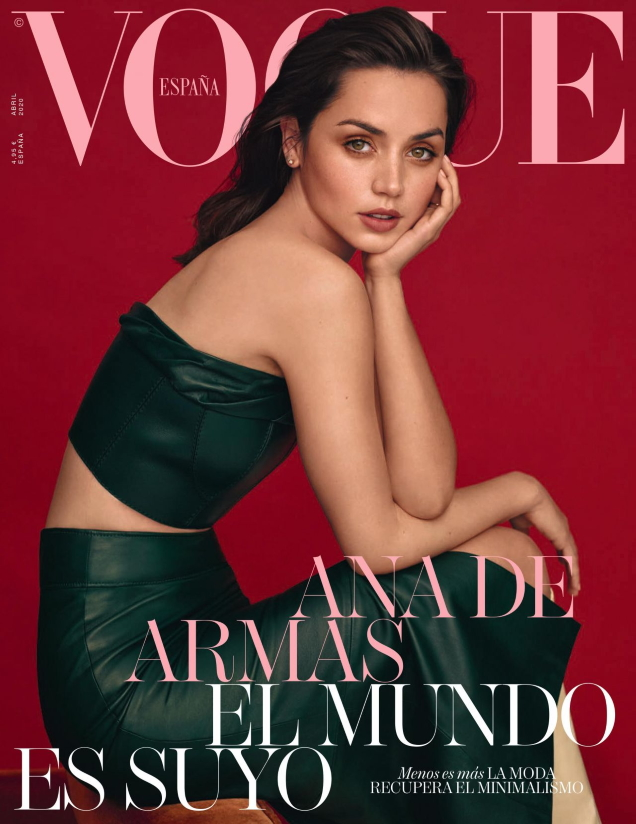 Vogue España April 2020 : Ana de Armas by Thomas Whiteside