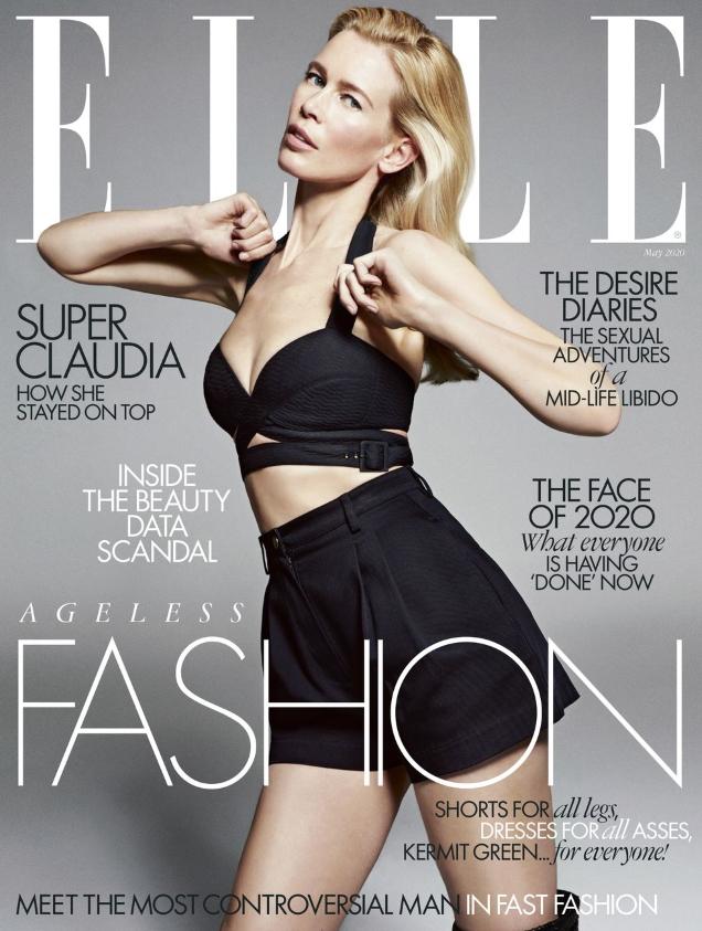 UK Elle May 2020 : Claudia Schiffer by Sebastian Kim