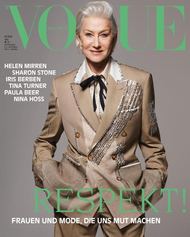 Vogue Germany May 2020 : Helen Mirren, Sharon Stone & Iris Berben by Liz Collins