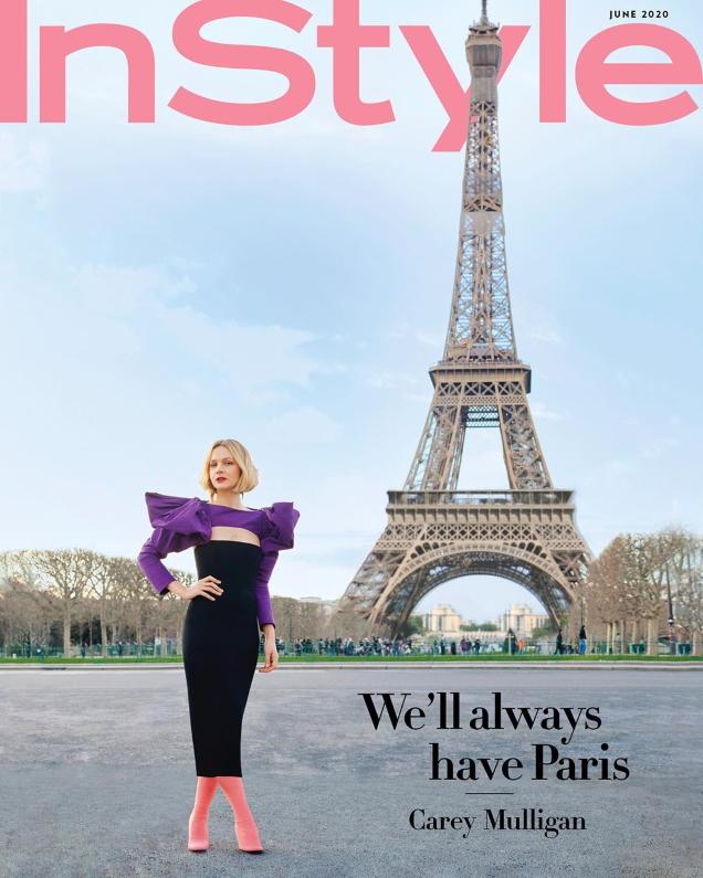 US InStyle June 2020 : Carey Mulligan by Horst Diekgerdes