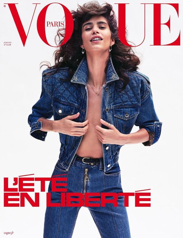 Vogue Paris July 2020 : Mica Argañaraz by Nathaniel Goldberg & Natasja Madsen by Henrik Purienne