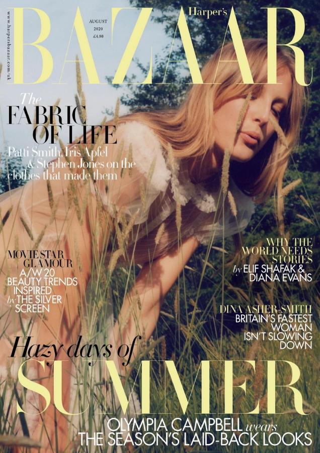 UK Harper's Bazaar August 2020 : Olympia Campbell by Jesse Jenkins
