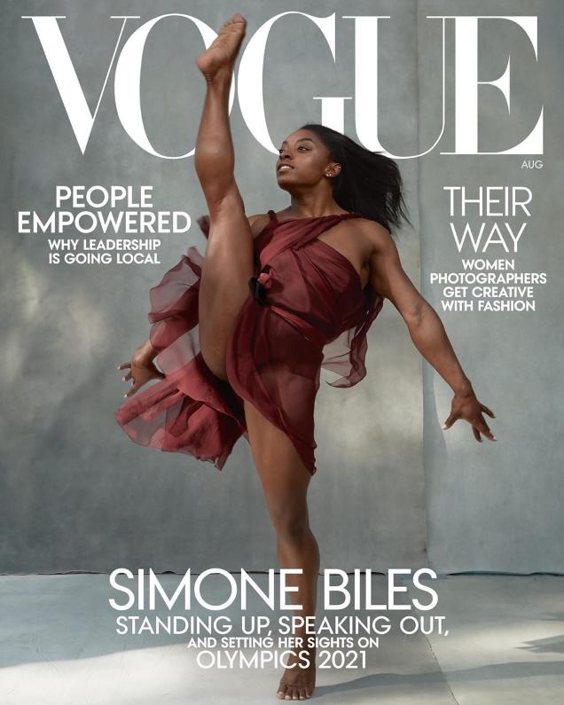 US Vogue August 2020 : Simone Biles by Annie Leibovitz