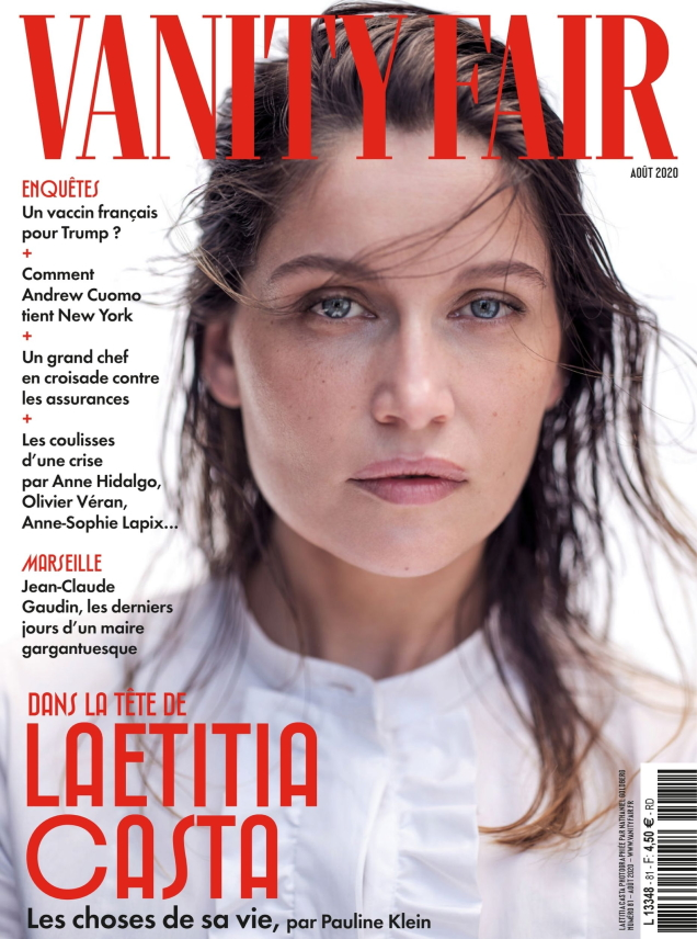 Vanity Fair France August 2020 : Laetitia Casta by Nathaniel Goldberg