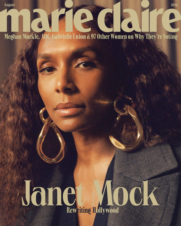 US Marie Claire August 2020 : Janet Mock by Luke Gilford