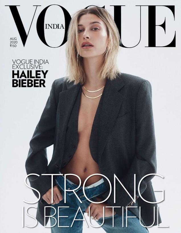 Vogue India August 2020 : Hailey Bieber by Zoey Grossman