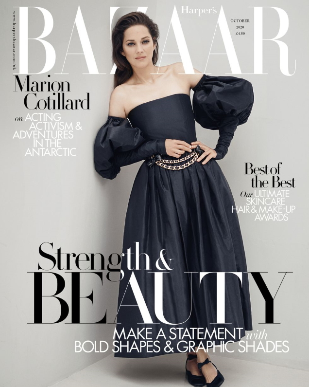 UK Harper's Bazaar October 2020 : Marion Cotillard by Serge Leblon