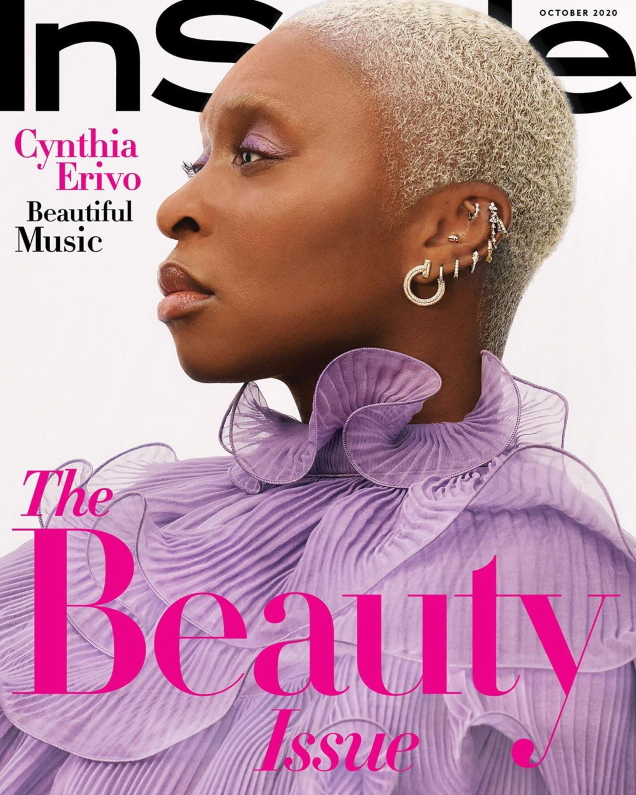 US InStyle October 2020 : Cynthia Erivo by Joshua Kissi
