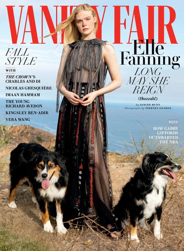 Vanity Fair October 2020 : Elle Fanning by Tierney Gearon