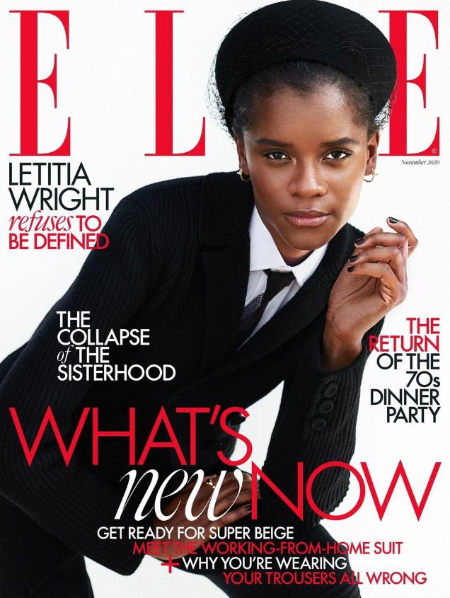 UK Elle November 2020 : Letitia Wright by Marcin Kempski