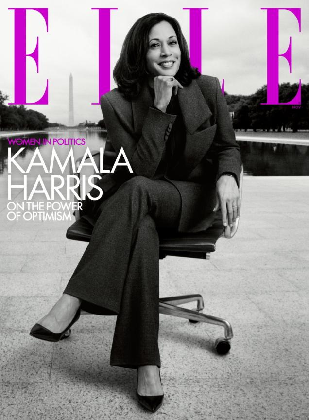 US Elle November 2020 : Kamala Harris by Inez van Lamsweerde & Vinoodh Matadin