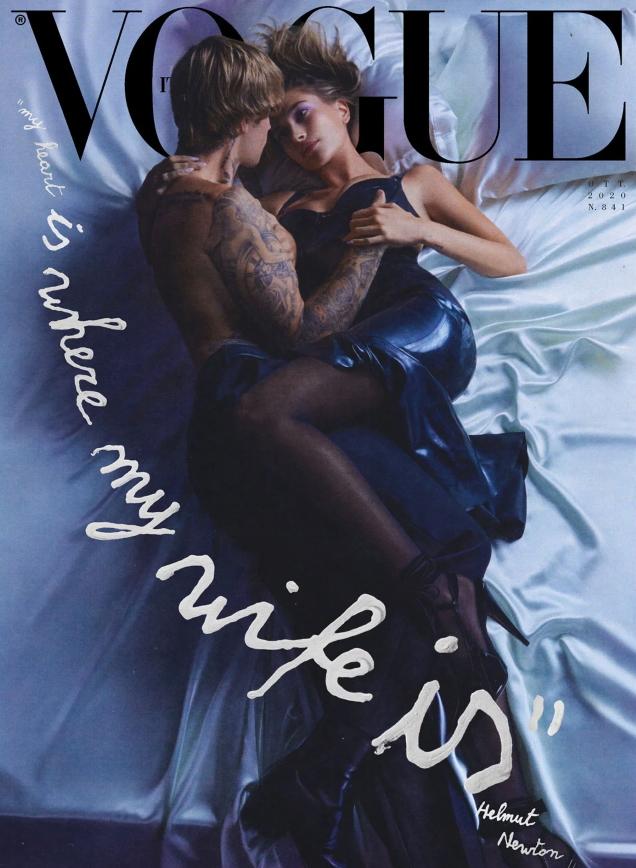 Vogue Italia October 2020 : Justin & Hailey Bieber by Eli Russell Linnetz